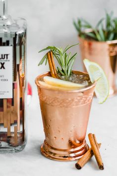 A boozy fall treat that's sure to be a crowd pleaser, this Autumn Moscow Mule is made with apple cider, ginger beer, vodka, and a cinnamon stick straw!