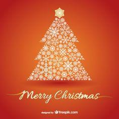 árbol de navidad en el fondo de color naranja
