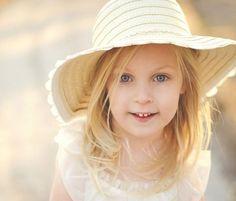 Sweet Girl Yellow Hat