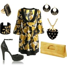 bold accesories - yellow+black