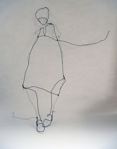 its sooooo simple but so warm Wire Drawing, Painting & Drawing, Creation Art, Art Sculpture, Wire Crafts, Wire Art, Textile Art, Photo Art, Graphic Art