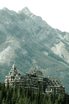 The Fairmont Banff Springs Hotel, Alberta | Canada..Makes you realize how small we are in relationship to Natures Best