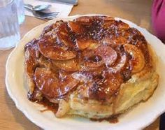 Original Pancake House * BAKED APPLE PANCAKE * brown sugar-cinnamon topping * photo courtesy of Original Pancake House