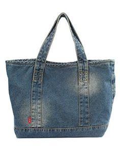 Amazon.com: Vantoo Distressed Unisex Denim Handbag Shoulder Bag with Two Pockets for Men and Women: Shoes