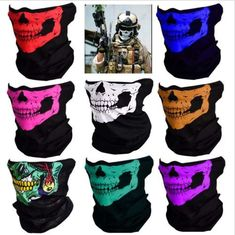 Outdoors Skull Camouflage Buffs Bandana National Flag Neck Scarf Motorcycle Country Flag Face Mask Russian Mexico Biker Headband Elegant And Sturdy Package Men's Scarves