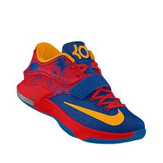 buy online de00a f36ec Nike KD 7 id  Not sure of the name, but the red tank, black basketball  shorts and red and black fitted cap will work for these.