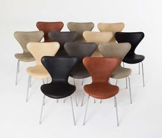 """Set of 12 Refurbished """"Butterfly"""" 3107 Chairs by Arne Jacobsen 