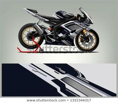 Find Sport Bike Wrap Design Vector Abstract stock images in HD and millions of other royalty-free stock photos, illustrations and vectors in the Shutterstock collection. Thousands of new, high-quality pictures added every day. Sports Decals, Car Decals, Sticker, Design Vector, Ad Design, Design Ideas, Graphic Design, R6 Motorcycle, Xjr
