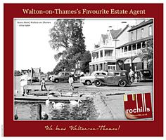 Lovely old image of the Swan Hotel in Walton-on-Thames makes local estate agents leaflet a real talking point
