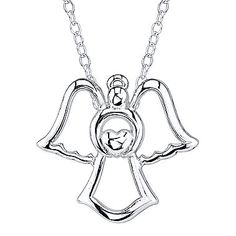jcp | Footnotes® Sterling Silver Guardian Angel Pendant Necklace
