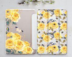Yellow Roses iPad Mini 4 Case iPad Pro 12.9 Case Sleeve Tablet Stand iPad Mini 2 Case Floral iPad Mini 3 Case Smart Pro 9.7 2017 Case is007