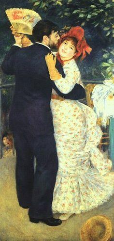 Dança no campo, 1883, óleo sobre tela, Musée d'Orsay, Paris
