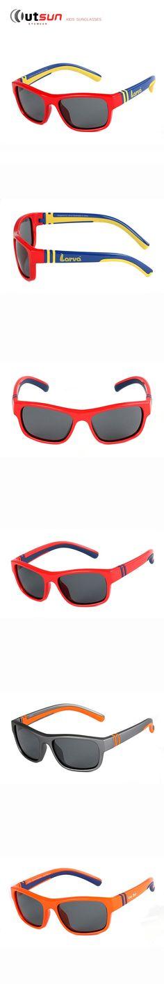 OUTSUN Super Light Kids Sunglasses Polarized Brand Designer UV400 Soft Rubber Frame Polaroid Lens Sun Glasses Children Eyewear