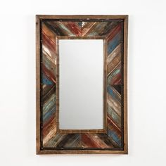 recibimos nuestras nuevas novedades en decoracin para esta temporada este espejo de madera multicolor y
