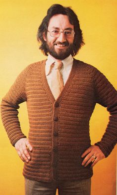 Mens and Women's Crochet Cardigan Pattern PDF
