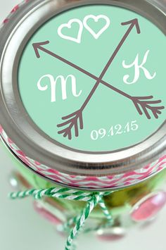 Love Arrows Stickers by #MyCustomWedding on #Etsy. The perfect touch for any engagement and wedding favors! Mason Jars, Envelopes, Invitations, Gift Bags, Hershey's Kisses and much more. 5 sizes included. #Wedding #WeddingFavors #LoveArrows #Love #InLove #DIY #DoItYourself #Handmade #BudgetWedding