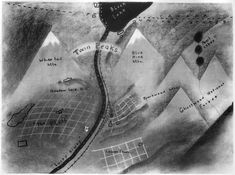 Twin Peaks Map drawn by David Lynch for pitch to ABC.
