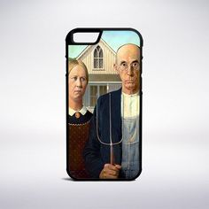 Grant Wood - American Gothic Phone Case