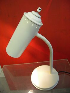 Lamp Refurbished Lamps, Spray Can Art, Recycle Cans, I Love Lamp, Diy Upcycling, Diy Clock, Led Floor Lamp, Diy Canvas Art, Paint Cans