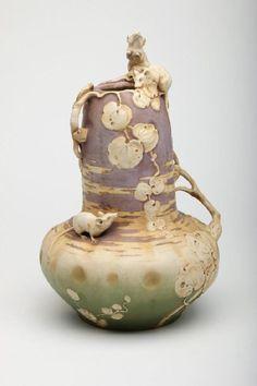 US 1,000.00 sold  Art Nouveau Amphora Austrian Porcelain Mouse Vase