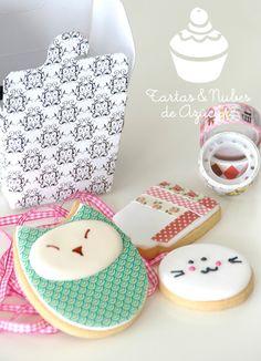 tartas y nubes de azúcar: Washi tape cookies
