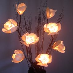Handmade Magnolia Lighted Flower Tree Branch by NineCraftCase, $27.99