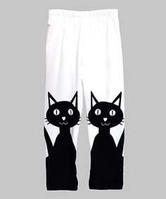 Look at this Urban Smalls Black Cats Leggings - Infant, Toddler & Girls on #zulily today!