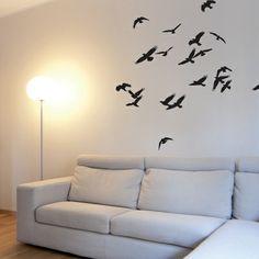 Birds In Flight-Black Wall Decal