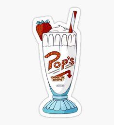 Pegatina Pop's Milkshake / Riverdale (vanilla)