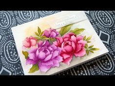 No-Line Watercoloring with Altenew Flower Stamps. Link download: http://www.getlinkyoutube.com/watch?v=89-pRDgSpPo