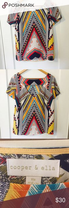 "Cooper & Ella Boho Printed Blouse In Great Condition/Bust: 19"" Length: 25"" cooper & ella Tops Blouses"