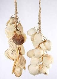Natural Clam Seashell Hanging Spray - Luau and Beach Theme - Party & Special Occasions Seashell Garland, Seashell Ornaments, Island Theme Parties, Caribbean Christmas, Luau Decorations, Factory Direct Crafts, Beach Theme Bathroom, Craft Room Decor, Nature Crafts