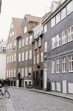 Cobblestone streets in Copenhagen.