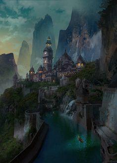 fantasy castle indian concept landscape medieval artstation sci fi places