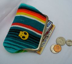 Serape fabric coin and card purse by MarthaNina on Etsy, $22.00