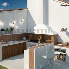 Barbacoas a medida archivos - Argemi PrefabricatsArgemi Prefabricats Garden Bar, Home And Garden, Parrilla Exterior, Barra Bar, Villa, Barbecue, Kitchen Decor, Backyard, House
