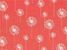 Dandelion White / Coral | Online Discount Drapery Fabrics and Upholstery Fabric Superstore!