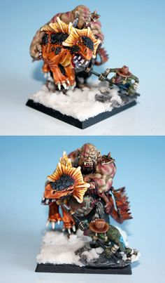 Ogre Maneaters - Page 38 Warhammer Ogre, Warhammer Figures, Warhammer Fantasy, Jaina Proudmoore, Fantasy Figures, Fantasy Battle, Fantasy Miniatures, Love Painting, Troll