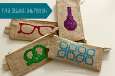 Purse Organizing Pouches by Organize and Decorate Everything