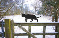 Prowling Garden Cat, Metal Cat Ornament, Scarecrow