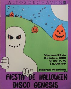 Halloween Party Poster, Altos de Chavon, Dominican Republic. Betsy Arvelo.