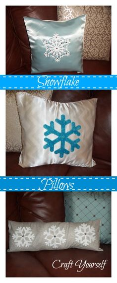 Snowflake pillows - craftyourself.com