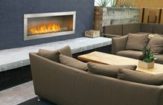 The GSS48 Galaxy™ Linear Outdoor Gas Fireplace from Napoleon® This is the one!!