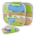 Eco Lunch Box Small and Large Blue and Green Set | Overstock.com