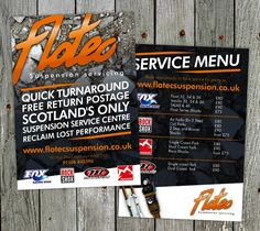 Flyer design for Flotec Suspension Servicing