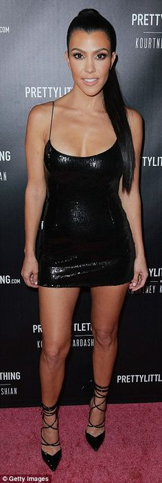 Style savvy: Kourtney Kardashian has landed her first solo clothing line with Pretty Littl...