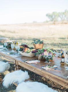 Natural wedding at a Tucson, Arizona ranch