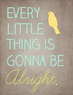 Every little thing is gunna be alright