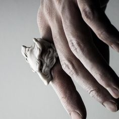 Wolf Ring by MACABRE GADGETS | WHITE MARBLE