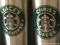 Free Silhouette cut file and tutorial to make your own personalized Starbucks coffee cups! ~ whatchaworkinon.com